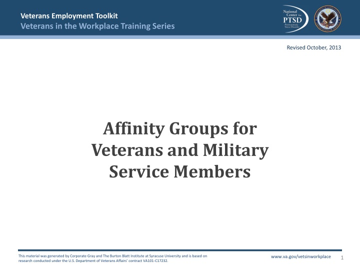 affinity groups for veterans and military service members n.