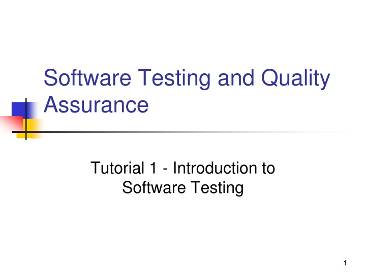 software testing and quality assurance n.