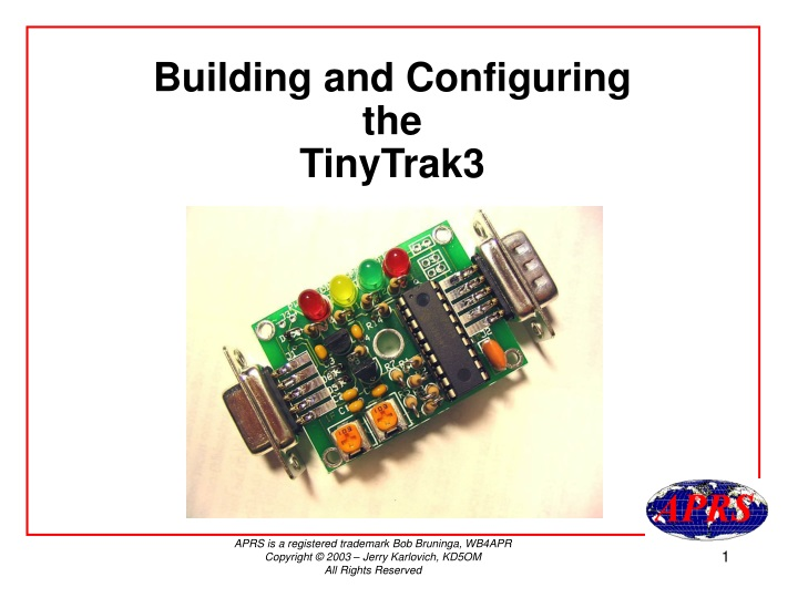 building and configuring the tinytrak3 n.