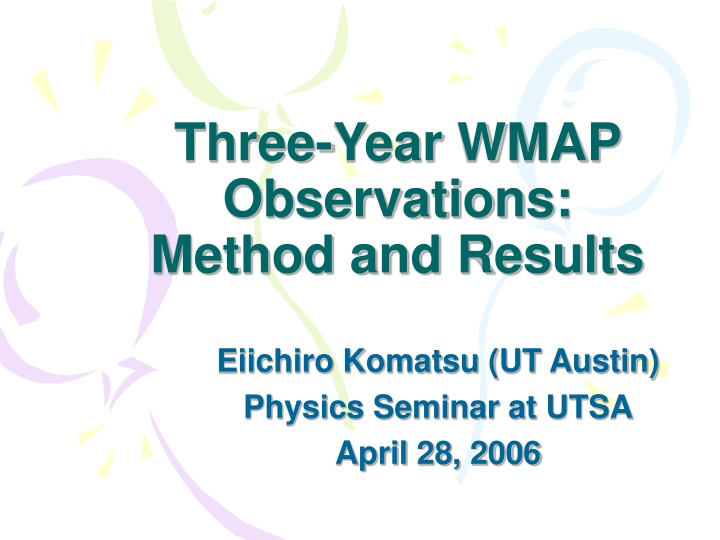 three year wmap observations method and results n.
