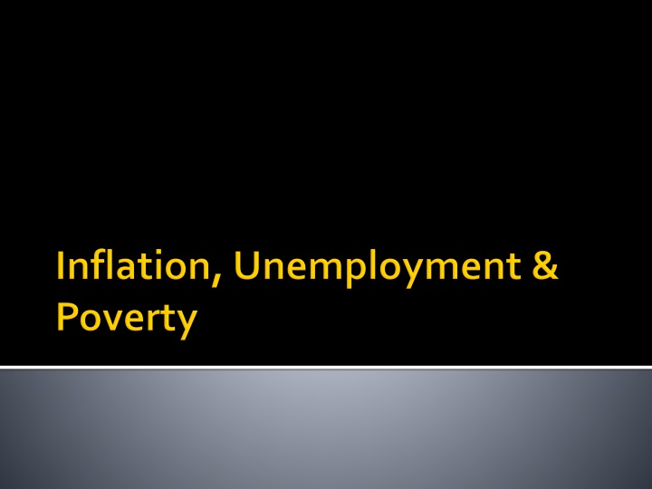 inflation unemployment poverty n.