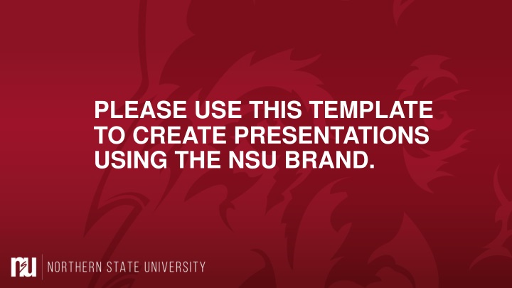 please use this template to create presentations n.