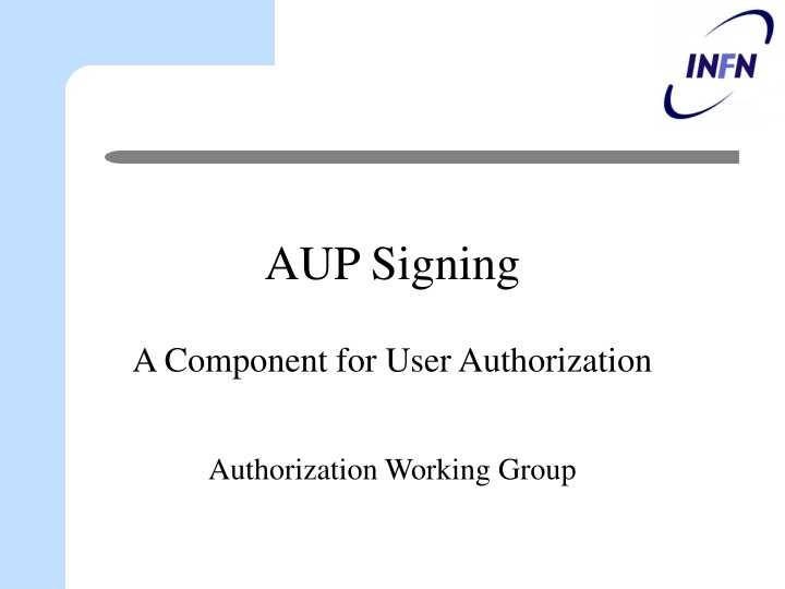 aup signing n.