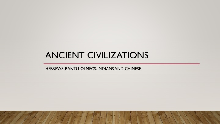 ancient civilizations n.