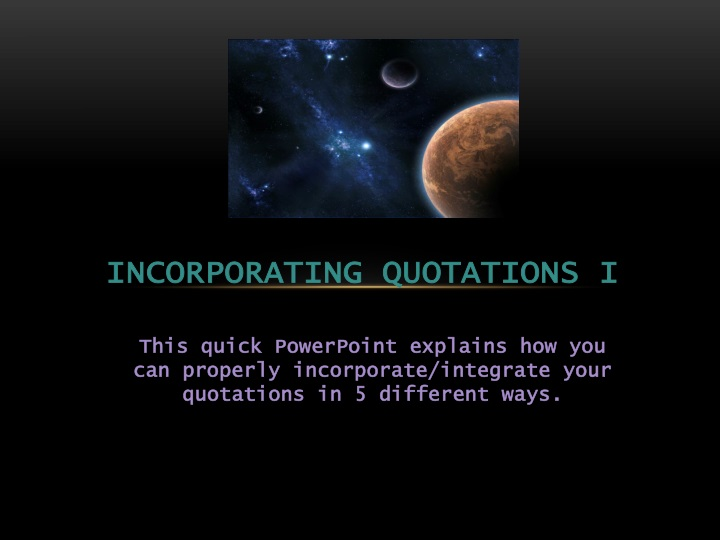 incorporating quotations i n.