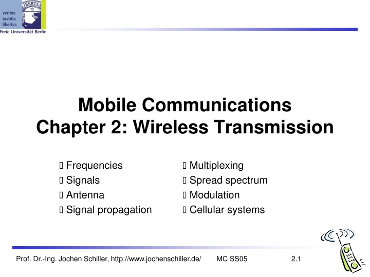 mobile communications chapter 2 wireless transmission n.