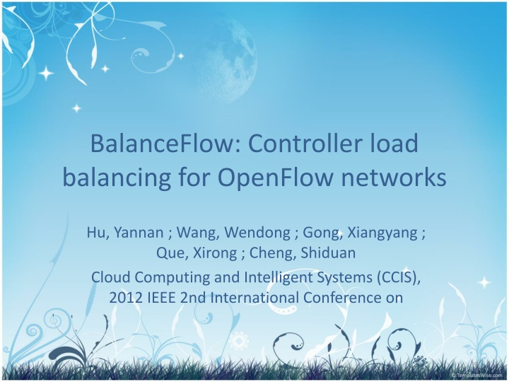 balanceflow controller load balancing for openflow networks n.