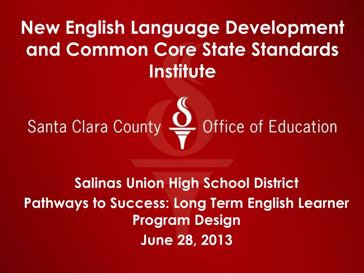 new english language development and common core state standards institute n.