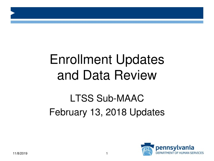 enrollment updates and data review n.