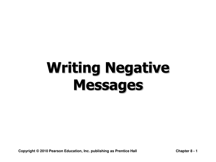writing negative messages n.