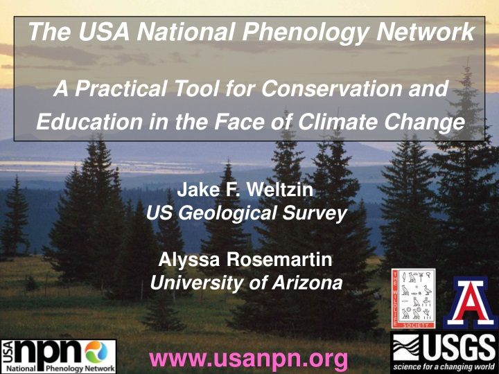 the usa national phenology network a practical n.
