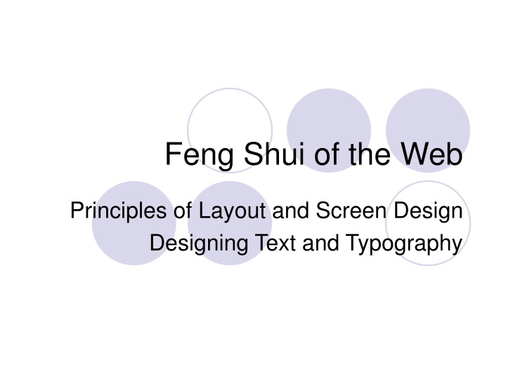feng shui of the web n.