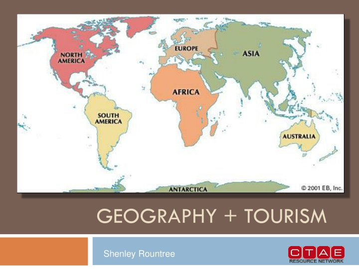 geography tourism n.
