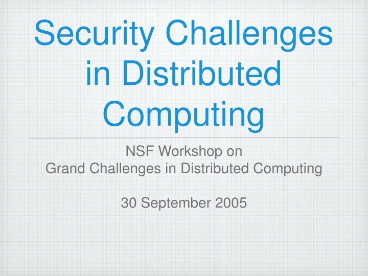 security challenges in distributed computing n.