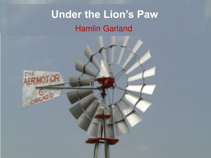 under the lion s paw n.