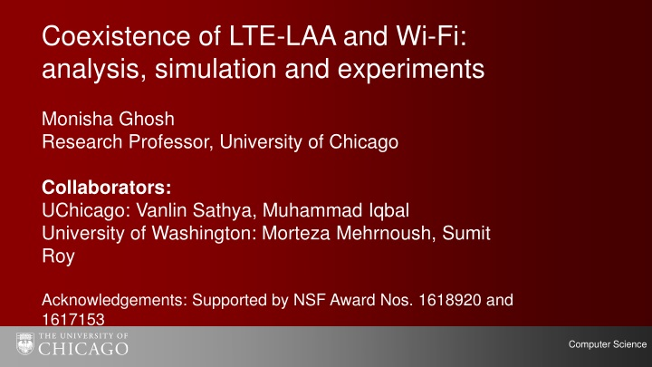 c oexistence of lte laa and wi fi analysis n.