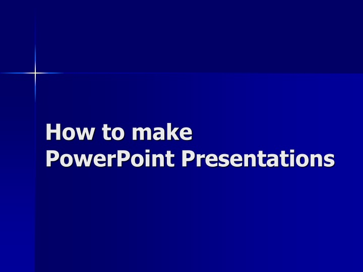 how to make powerpoint presentations n.