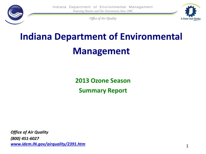 indiana department of environmental management n.