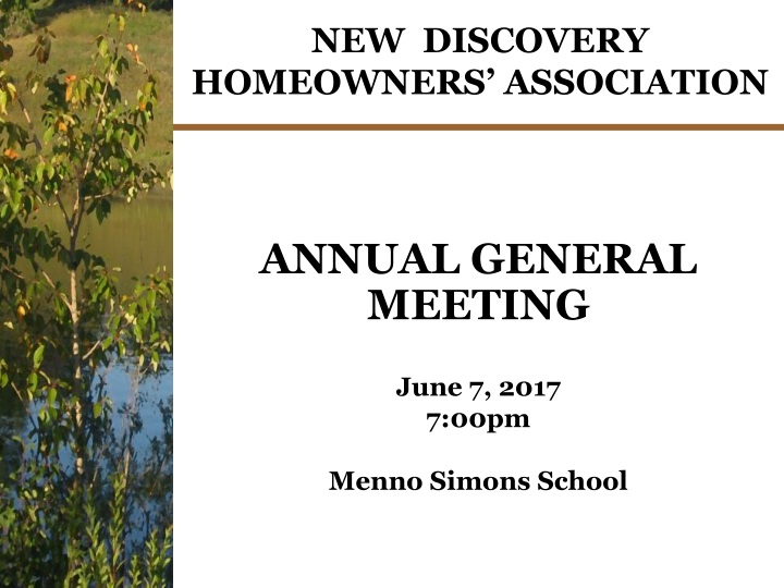 new discovery homeowners association n.
