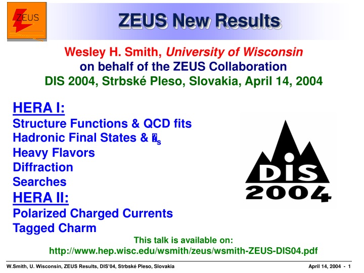 zeus new results n.