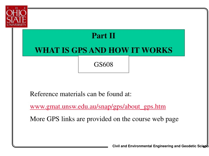 part ii what is gps and how it works n.