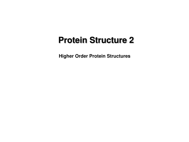protein structure 2 n.