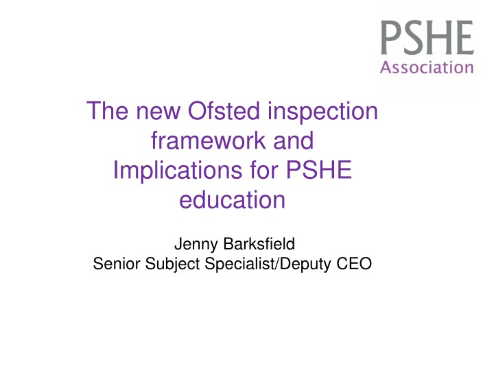 the new ofsted inspection framework n.
