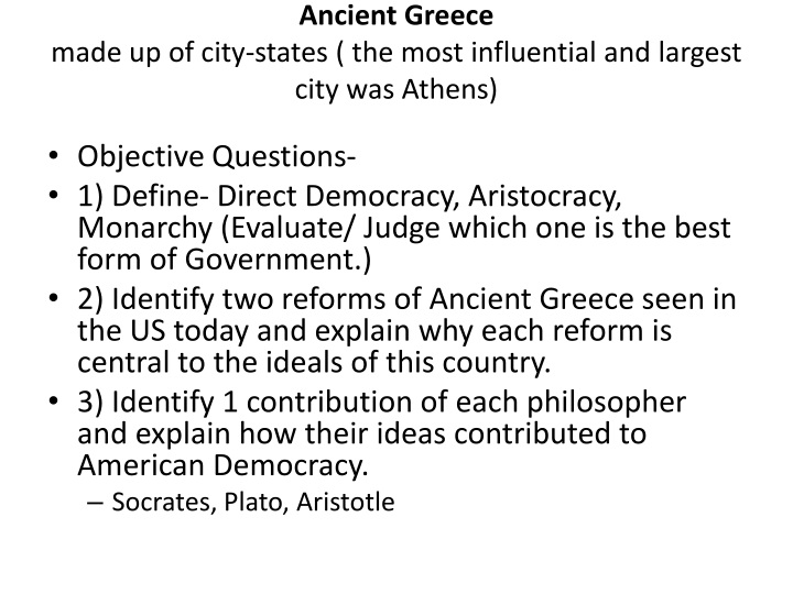 ancient greece made up of city states the most influential and largest city was athens n.