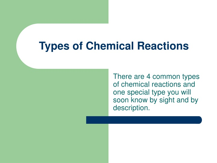 types of chemical reactions n.
