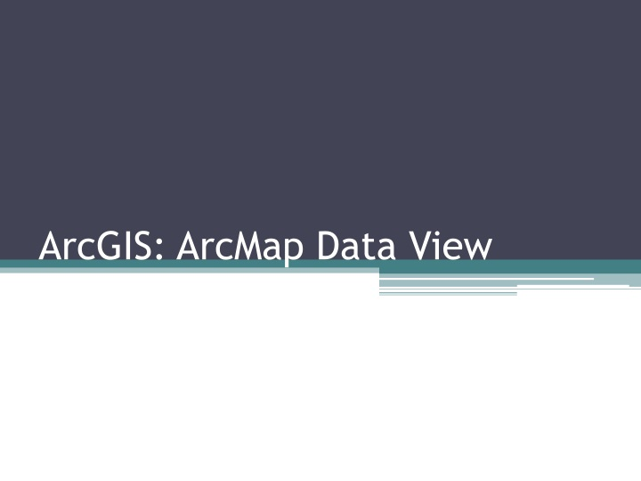 arcgis arcmap data view n.