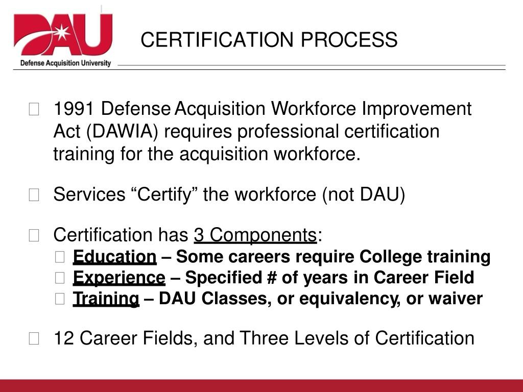 dawia certification presentation