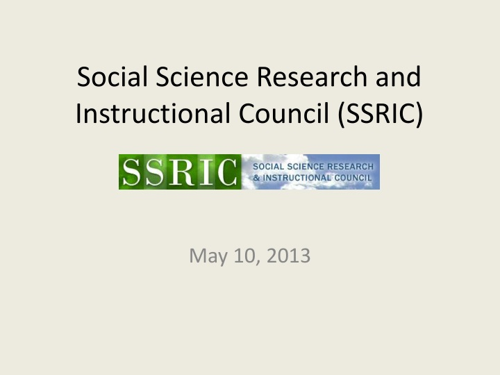 social science research and instructional council ssric n.