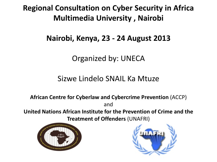 regional consultation on cyber security in africa n.