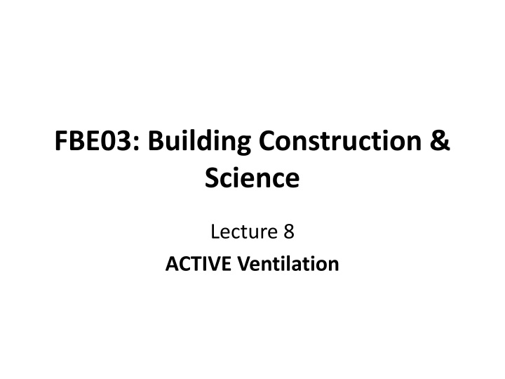 fbe03 building construction science n.