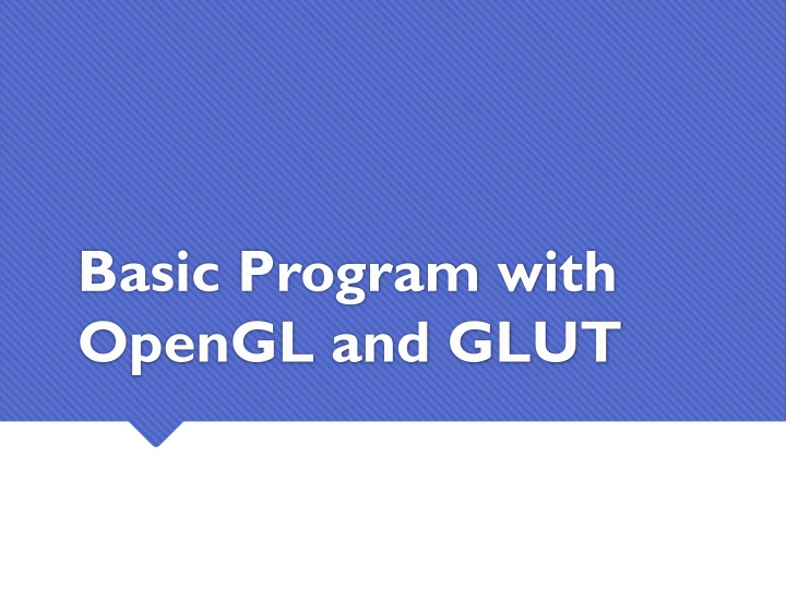 basic program with opengl and glut n.