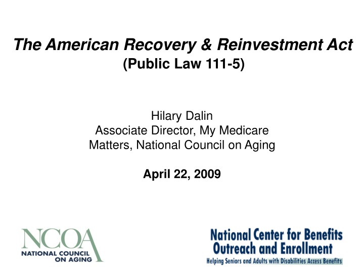 the american recovery reinvestment act public law 111 5 n.