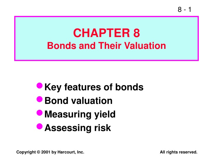 chapter 8 bonds and their valuation n.