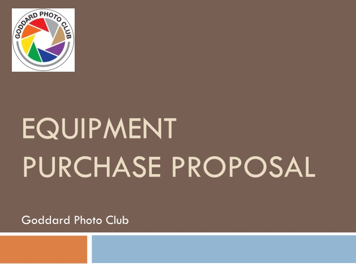 equipment purchase proposal n.