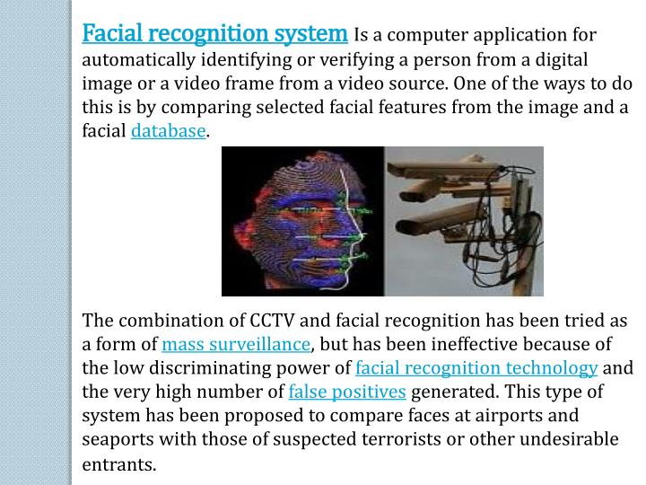 Facial recognition system