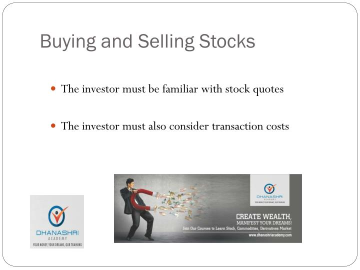 Buying and Selling Stocks