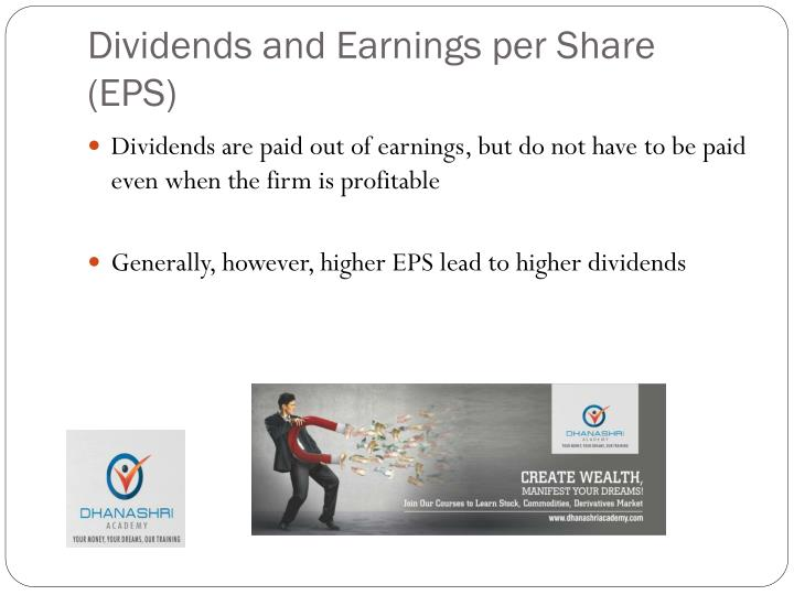 Dividends and Earnings per Share (