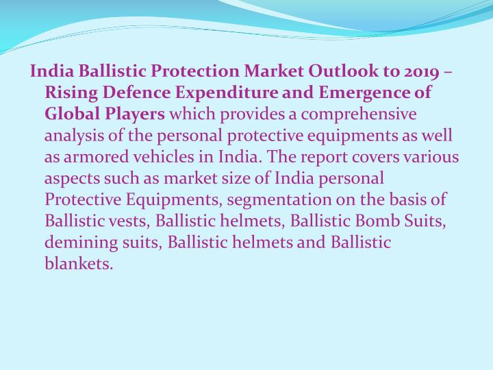 India Ballistic Protection Market Outlook to 2019 – Rising