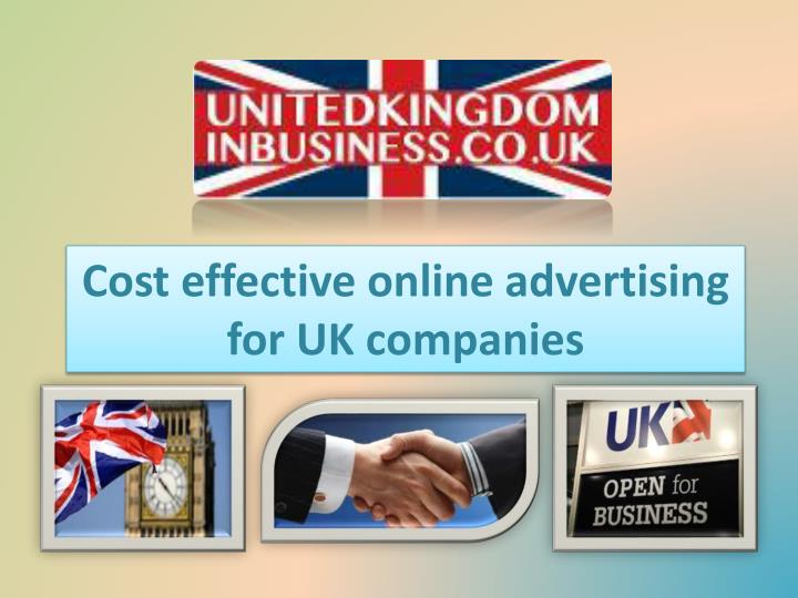 cost effective online advertising for uk companies n.