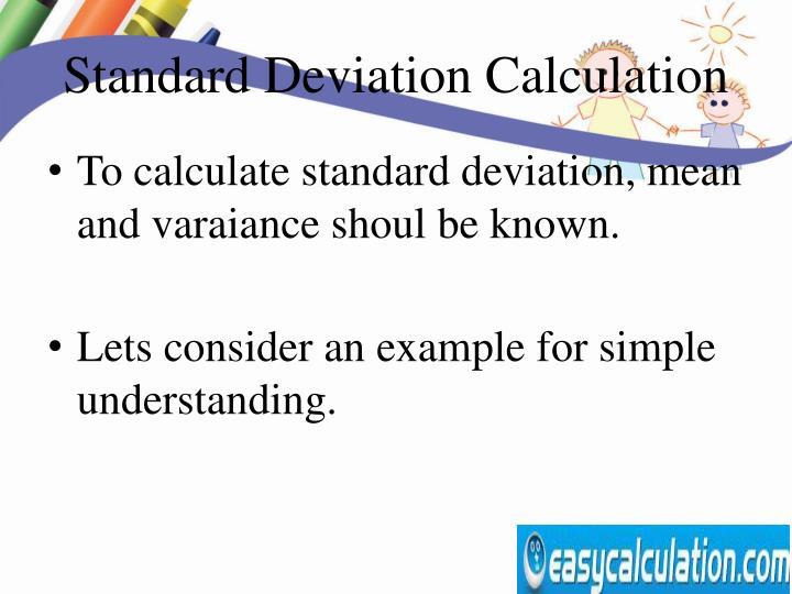 Standard Deviation Calculation