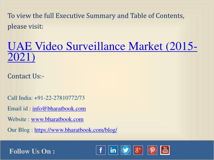 To view the full Executive Summary and Table of Contents,