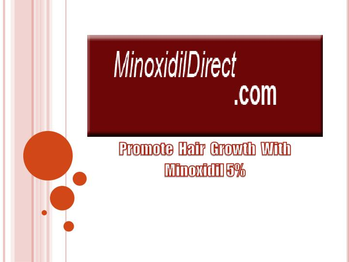 Promote hair growth with minoxidil 5
