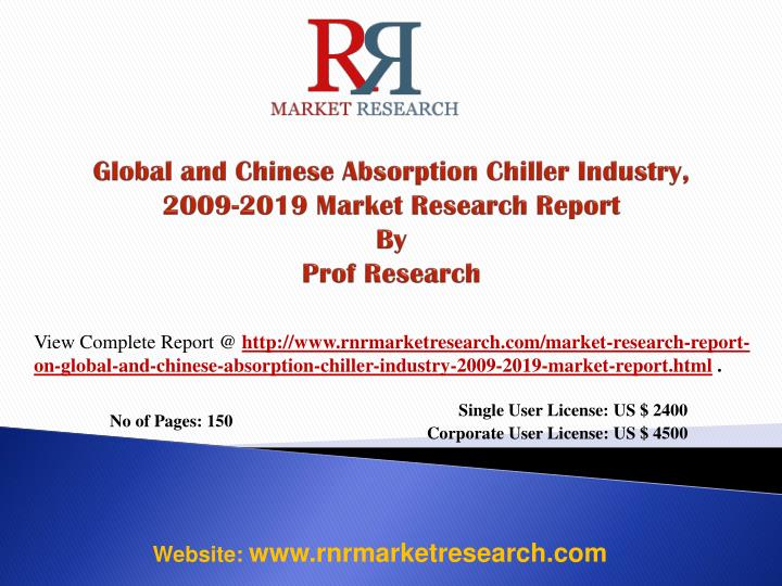 global and chinese absorption chiller industry 2009 2019 market research report by prof research n.