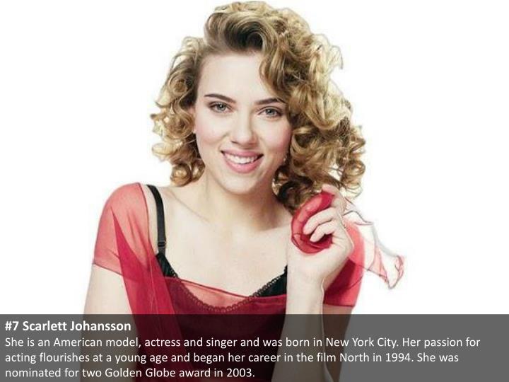 #7 Scarlett Johansson