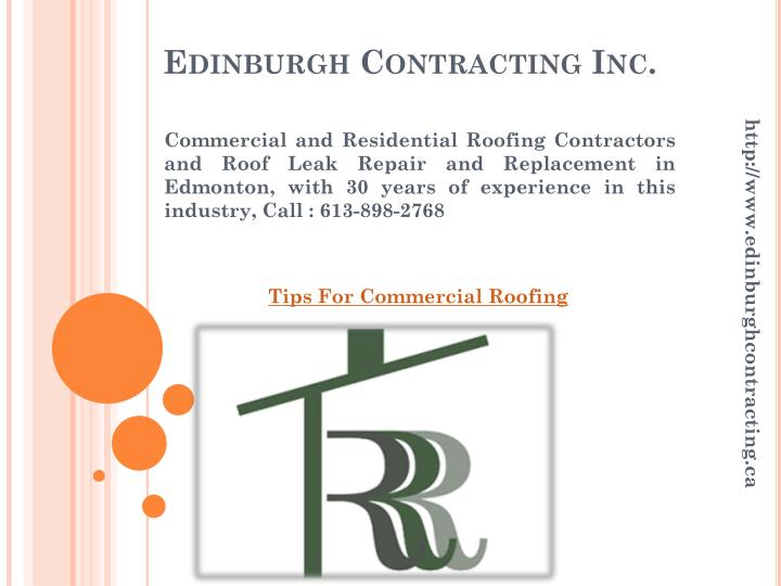 edinburgh contracting inc n.