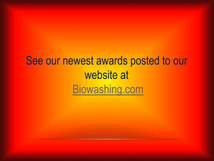 See our newest awards posted to our website